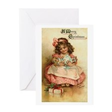 Vintage Christmas Post Card Art Greeting Card
