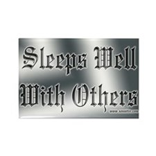 Sleeps Well With Others Rectangle Magnet