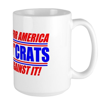 "Anti-Democrats ""NO"" Large Mug"