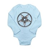 Inverted Silver Pentacle Onesie Romper Suit