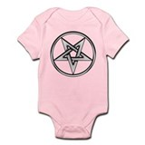 Inverted Silver Pentacle Onesie