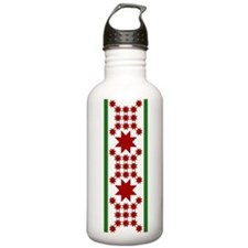 Star Quilt Pattern Water Bottle