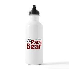 Papa Bear Est 2011 Water Bottle