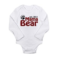 Mama Bear Est 2011 Long Sleeve Infant Bodysuit