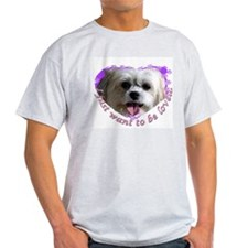 Lhasa Apso Ash Grey T-Shirt