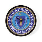 Massachusetts Free Masons Wall Clock