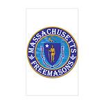 Massachusetts Free Masons Sticker (Rectangle)