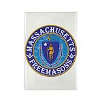 Massachusetts Free Masons Rectangle Magnet