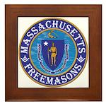 Massachusetts Free Masons Framed Tile