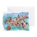 Map Of Sicily Greeting Card
