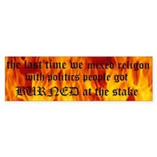 RELIGON/ POLITCS Custom Bumper Sticker