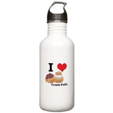I Heart (Love) Cream Puffs Water Bottle