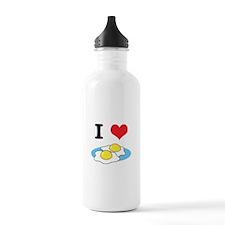 I Heart (Love) Fried Eggs Water Bottle