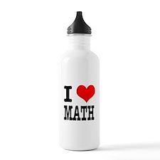 I Heart (Love) Math Water Bottle