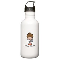Future Scientist Girl Water Bottle