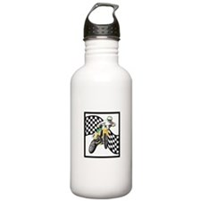Motocross Design Water Bottle