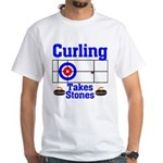 Curling Takes Stones (white)