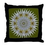 Orchid Sunray Throw Pillow