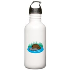 Silly Platypus in the Water Water Bottle