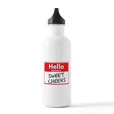 Hello My Name is Sweet Cheeks Sports Water Bottle