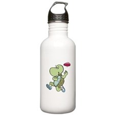 Turtle Playing Frisbee Water Bottle