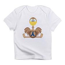 Blue Awareness Ribbon Goofkin Infant T-Shirt
