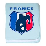 rugby france shield baby blanket