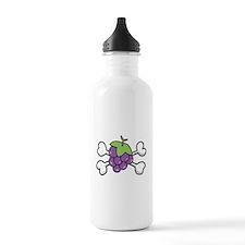 Purple Grapes & Crossbones Water Bottle
