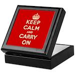Keep Calm and Carry On Keepsake Box
