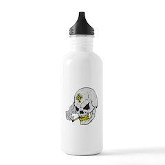 Celtic Cross Smoking Skull Water Bottle