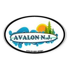Avalon NJ - Surf Design Decal