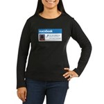 Macebook Women's Long Sleeve Dark T-Shirt