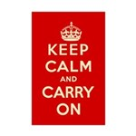 Keep Calm and Carry On Mini Poster Print