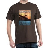 Brooklyn Bridge Sunset Black T-Shirt