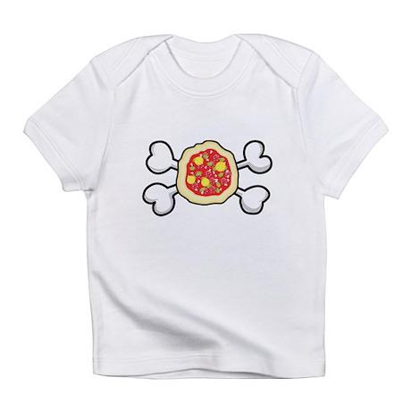 Funny Pizza & Crossbones Desi Infant T-Shirt