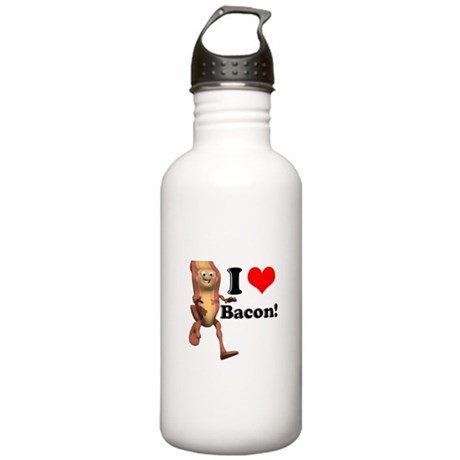 I Heart (Love) Bacon Stainless Water Bottle 1.0L