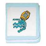 Aquarius Cool Water Design baby blanket