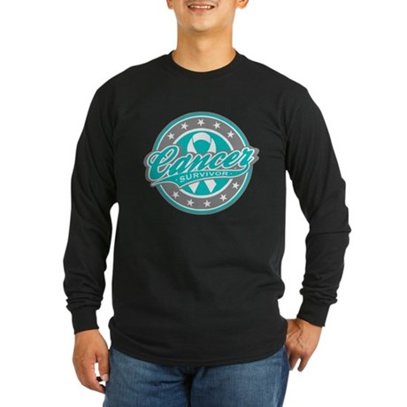 Ovarian Cancer Survivor Sport Long Sleeve Dark T-S
