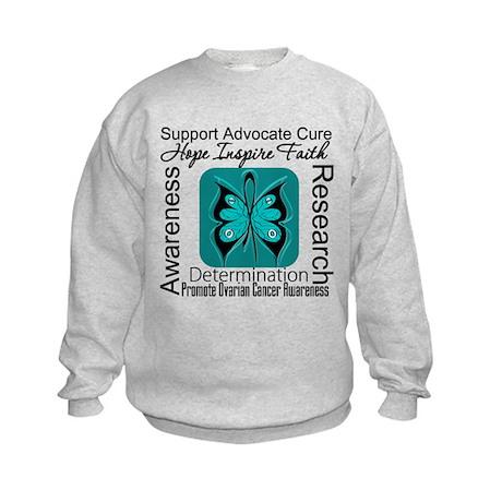 Ovarian Cancer HopeInspireFaith Kids Sweatshirt