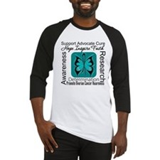 Ovarian Cancer HopeInspireFaith Baseball Jersey