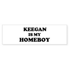 Keegan Is My Homeboy Bumper Bumper Sticker