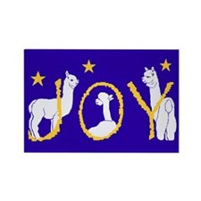 """Alpaca Joy"" Rectangle Magnet (100 pack)"