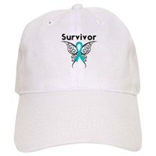 Ovarian Cancer Butterfly-Surv Baseball Cap