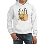 Funny Tofu Tote Hooded Sweatshirt