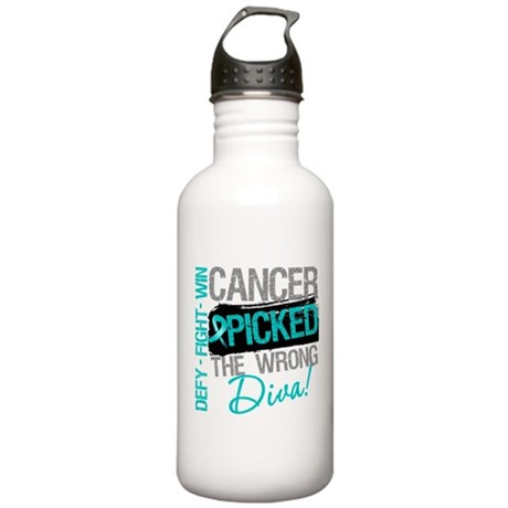 OvarianCancer PickedWrongDiva Stainless Water Bott