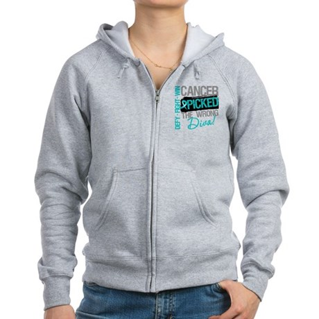 OvarianCancer PickedWrongDiva Women's Zip Hoodie