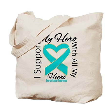 Ovarian Cancer Hero Support Tote Bag