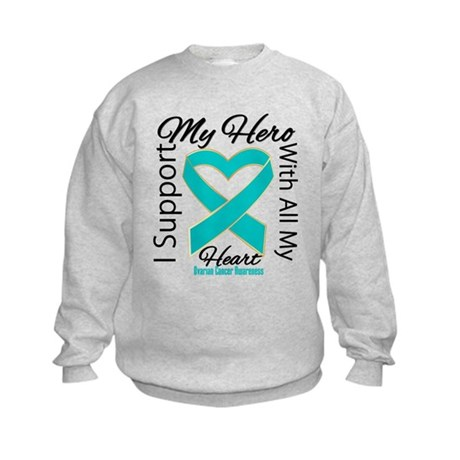 Ovarian Cancer Hero Support Kids Sweatshirt