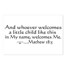 Mathew 18:5 Postcards (Package of 8)