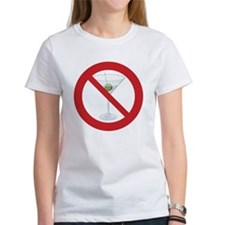 "Sober Living T-Shirt, Women's: ""No Hard Liquor"""